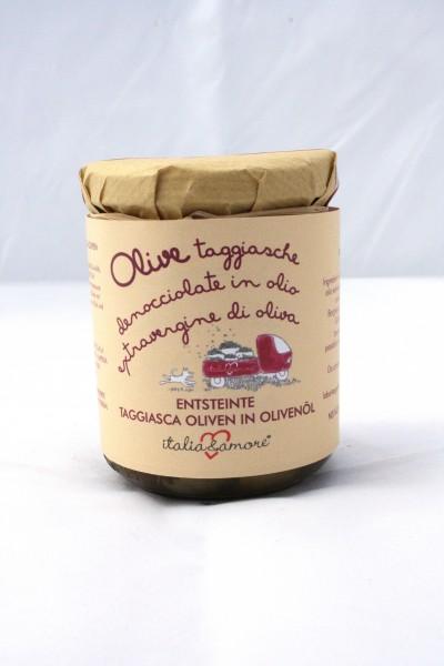 Olive Taggiasche Denocciolate in Olio Extravergine di Oliva 212ml/180gr