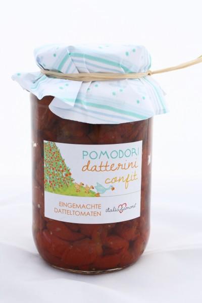 Pomodori Datterini confit in Olio Extra Vergine 580ml/575g