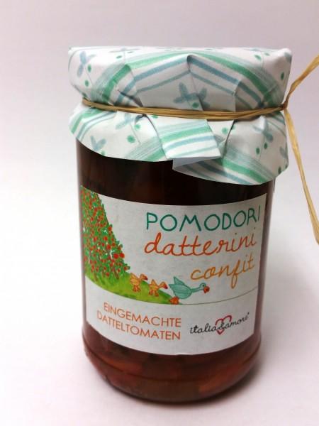 Pomodori Datterini confit in Olio Extra Vergine 314ml/300gr