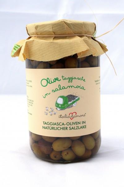 Olive Taggiasche in Salamoia Naturale 580ml / 520gr