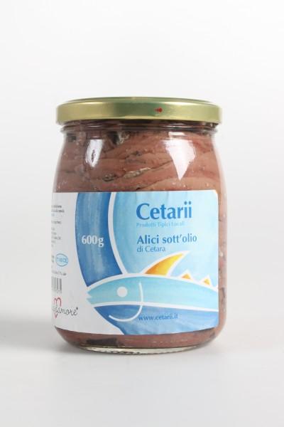 Filetti di Acciuga (Alici) all'Olio di Oliva 600 g