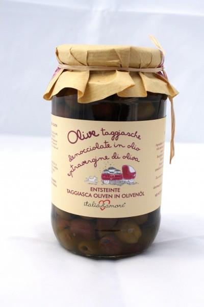 Olive Taggiasche Denocciolate in Olio Extravergine di Oliva 580ml/500gr